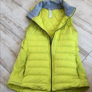 Lululemon neon green quilted vest
